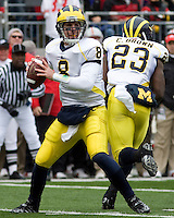 November 22, 2008. Michigan quarterback Nick Sheridan.  The Ohio State Buckeyes defeated the Michigan Wolverines 42-7 on November 22, 2008 at Ohio Stadium, Columbus, Ohio.