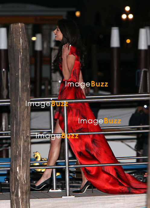 Amal Alamuddin - GEORGE CLOONEY &amp; AMAL ALAMUDDIN CELEBRATE STAG NIGHT EVENT AT DA IVO RESTAURANT IN VENICE - <br /> George Clooney &amp; British fiancee Amal Alamuddin celebrate their stag night event at the Da Ivo restaurant in Venice, prior to their wedding day. <br /> Robert De Niro, Matt Damon, Brad Pitt and Cate Blanchett were among the other stars, like Cindy Crawford, Rande Geber, Bill Murray, Emily Blunt.<br /> Italy, Venice, 26 September, 2014.