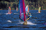 "Windsurfing at ""The Hatchery"" near Hood River, Columbia River Gorge, Washington"