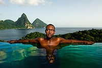 Jade Mountain Resort, St. Lucia 2009.  <br />