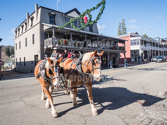 Christmas carriage rides in Sutter Creek!<br /> <br /> #AmadorCounty, #SutterCreek, #Christmas, #VisitAmador, #CarriageRides