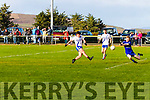 St Marys on the attack with a powerful shot from Conor O'Shea but a spectacular intervention from Renards Alan Curran denies the score.