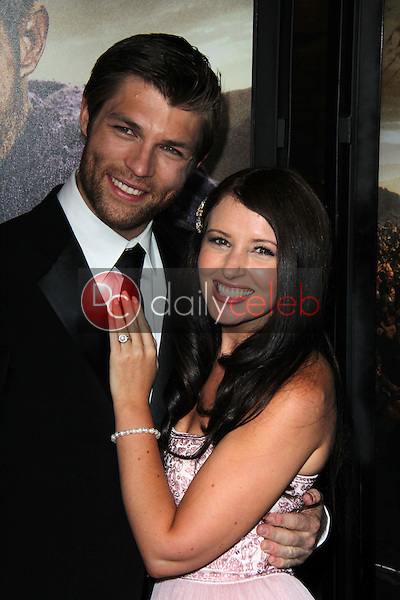 Liam McIntyre, Erin Hasan<br /> at the &quot;Spartacus: War Of The Damned&quot; Los Angeles Premiere, Regal Cinemas, Los Angeles, CA 01-22-13<br /> David Edwards/DailyCeleb.com 818-249-4998