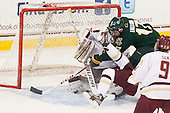 Jacob Fallon (UVM - 17) (Milner/Jeke) - The Boston College Eagles defeated the University of Vermont Catamounts 4-1 on Friday, February 1, 2013, at Kelley Rink in Conte Forum in Chestnut Hill, Massachusetts.