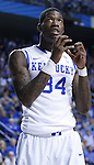DeAndre Liggins, a junior guard, reacts to a call made in the first half of the game against the University of Tennessee at Rupp Arena on Tuesday, February 8, 2011.  Photo by Latara Appleby | Staff