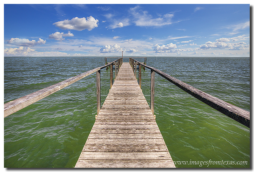 Stretching out into the Gulf of Mexico in Rockport, Texas, this fishing pier allows local residents to cast their lines into the Texas Gulf coast waters in hopes of landing flounder, redfish, sea trout, and other underwater game. I love capturing Texas images such as this - those pictures that make each area of the Lone Star State unique to visit and photograph.