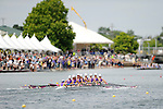 28 MAY 2011: Williams College I rows down river during the Grande Eights Final during the 2011 NCAA Division III Women's Rowing Championship hosted by Washington State University held at the Sacramento State Aquatic Center in Gold River, CA. Williams I placed 1st in the race to win the national title. Brett Wilhelm/NCAA Photos