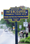 "Sign for Bird-In-Hand Intercourse Pennsylvania Dutch Amish country in Lancaster County PA, Bird In Hand, Intercourse, Pennsylvania Dutch in Amish Country Lancaster County Pennsylvania, Amish, Horse and buggy with amish family on backroads of Pennsylvainia, buggy, amish family, buggy and horse, Commonwealth of Pennsylvania, Commonwealth of Pennsylvania, natives, Northeasterners, Middle Atlantic region, Philadelphia, Keystone State, 1802, Thirteen Colonies, Declaration of Independence, State of Independence, Liberty, Conestoga wagons, Quaker Province, Founding Fathers, 1774, Constitution written, Photography history, Fine art by Ron Bennett Photography.com, Stock Photography, Fine art Photography and Stock Photography by Ronald T. Bennett Photography ©, All rights reserved copyright Ron Bennett Photography.Com, FINE ART and STOCK PHOTOGRAPHY FOR SALE, CLICK ON  ""ADD TO CART"" FOR PRICING,"