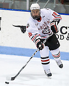 Mike McLaughlin (Northeastern - 18) - The Northeastern University Huskies defeated the visiting Boston College Eagles 2-1 on Saturday, February 19, 2011, at Matthews Arena in Boston, Massachusetts.