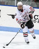 Mike McLaughlin (Northeastern - 18) - The Northeastern University Huskies defeated the visiting Boston College Eagles 2-1 on Saturday, February 19, 2011, at Matthews Arena in Boston, Massachusetts.