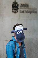 """26.09.2015 - """"Shaun The Sheep"""" - Mark Thomas Demo at Paternoster Sq"""