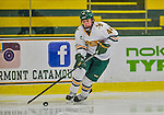 4 January 2014:  University of Vermont Catamount forward Victoria Andreakos, a Freshman from Aurora, Ontario, in action against the Syracuse University Orange, in non-conference play at Gutterson Fieldhouse in Burlington, Vermont. The Orange defeated the UVM Lady Cats 4-3 in their first ever NCAA meeting. Mandatory Credit: Ed Wolfstein Photo *** RAW (NEF) Image File Available ***