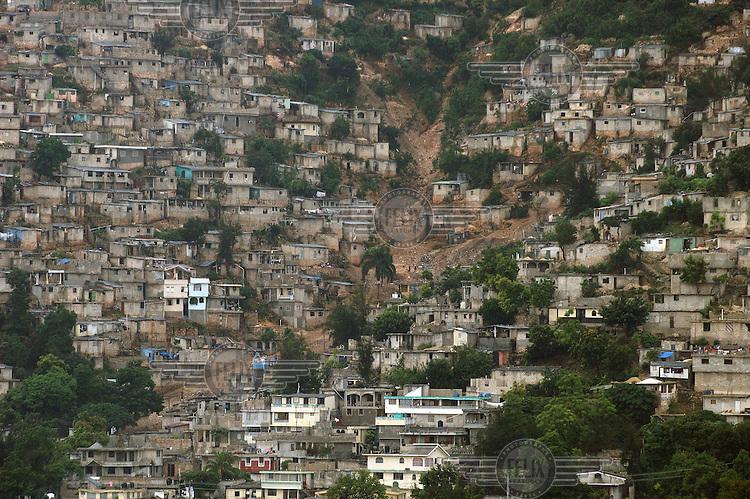 Shanty housing in a hillside slum.Photo: Dermot Tatlow/Panos Pictures/Felix Features