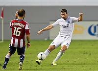 CARSON, CA - July 7, 2012: Vancouver Whitecaps defender Martin Bonjour (15) during the Chivas USA vs Vancouver Whitecaps FC match at the Home Depot Center in Carson, California. Final score Vancouver Whitecaps FC 0, Chivas USA 0.