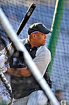 16 August 2008: Colorado Rockies starting pitcher Livan Hernandez takes batting practice prior to a game against the Washington Nationals at Nationals Park in Washington, DC.  Hernandez recorded his first win since coming to Colorado as the Rockies defeated the Nationals 13-6, handing the last place Nationals their 9th consecutive loss. ..Mandatory Photo Credit: Ed Wolfstein Photo