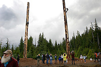 The big event is to climb a 65 foot pole at the annual logging show held in Thorne Bay on Prince of Wales Island in the Tongass National Forest.  It is the &quot;real thing&quot; --not a tourist show--where loggers, past loggers and wanna be loggers compete.