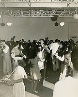 UNDATED..Merrimack Landing   ..Merrimack Park - 500 White Families of Naval Enlisted Personnel.Monthly Social Dance held in the Community Building with orchestra furnished by the Naval Operating Base - Teenage girls serving refreshments...NEG#..