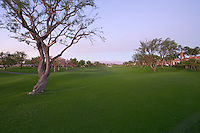 Dusk view of La Quinta golf course