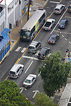 Traffic and public transportation on Metropolitan Area of San Juan.