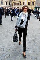 Roma 15 marzo 2013.Montecitorio l'arrivo dei parlamentari alla Camera dei Deputati per l' inizio della XVII legislatura..Maria Stella Gelmini, deputato del PdL