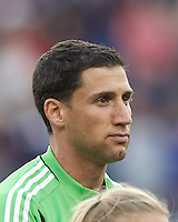Columbus Crew goalkeeper Andy Gruenebaum (30). In a Major League Soccer (MLS) match, the New England Revolution tied the Columbus Crew, 0-0, at Gillette Stadium on June 16, 2012.
