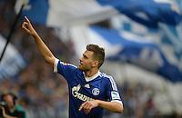 FUSSBALL   1. BUNDESLIGA   SAISON 2013/2014   8. SPIELTAG FC Schalke 04 - FC Augsburg                                05.10.2013 Adam Szalai (FC Schalke 04) jubelt nach seinem Tor zum 2:1
