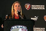 16 January 2009: Amy Rodriguez was selected with the first overall pick by the Boston Breakers. The 2009 inaugural Womens Pro Soccer (WPS) Draft was held at the Convention Center in St. Louis, Missouri in conjuction with the National Soccer Coaches Association of America's annual convention.