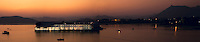 Panoramic view of Taj Lake Palace, located in the middle of Lake Pichola. (Photo by Matt Considine - Images of Asia Collection)
