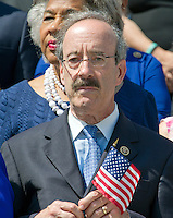 United States Representative Eliot Engel, (Democrat of New York), the Ranking Member of the US House Foreign Relations Committee, joins other Democratic members of the US House of Representatives and US Senate as they assemble on the East Steps of the US Capitol to call on Republican leadership in both legislative bodies to schedule votes on funding to combat the Zika Virus, to prohibit people on the federal &quot;no fly&quot; list from purchasing guns, and to conduct confirmation hearings and schedule a vote on the confirmation of Judge Merrick Garland as Associate Justice of the US Supreme Court in Washington, DC on Thursday, September 8, 2016.<br /> Credit: Ron Sachs / CNP /MediaPunch