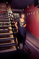 Actor and director Sophie Roberts photographed at the auditorium-entrance at Downstage Theatre, Wellington. Sophie Roberts graduated from Toi Whakaari with a Bachelor of Performing Arts (Acting) in 2007.  http://www.downstage.co.nz/