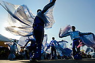 Colombian men, performing flying birds, dance during the Carnival in Barranquilla, Colombia, 27 February 2006. The Carnival of Barranquilla is a unique festivity which takes place every year during February or March on the Caribbean coast of Colombia. A colourful mixture of the ancient African tribal dances and the Spanish music influence - cumbia, porro, mapale, puya, congo among others - hit for five days nearly all central streets of Barranquilla. Those traditions kept for centuries by Black African slaves have had the great impact on Colombian culture and Colombian society. In November 2003 the Carnival of Barranquilla was proclaimed as the Masterpiece of the Oral and Intangible Heritage of Humanity by UNESCO.