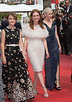 Millicent Simmonds, Julianne Moore &amp; Michelle Williams at the premiere for &quot;Wonderstruck&quot; at the 70th Festival de Cannes, Cannes, France. 18 May 2017<br /> Picture: Paul Smith/Featureflash/SilverHub 0208 004 5359 sales@silverhubmedia.com