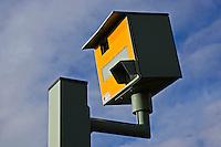 Gatso speed camera on A40, Oxfordshire, England, United Kingdom