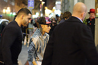 Justin Bieber at the Hotel Gran Melia Fenix in madrid, one day before his concert