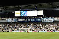 Fans behind the goal...Sporting KC were held to a scoreless tie with Chicago Fire in the inauguarl game at LIVESTRONG Sporting Park, Kansas City, Kansas.