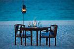 Beach dining, Zanzibar, Tanzania