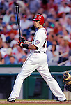 21 June 2011: Washington Nationals outfielder Jayson Werth in action against the Seattle Mariners at Nationals Park in Washington, District of Columbia. The Nationals rallied from a 5-1 deficit, scoring 5 runs in the bottom of the 9th, to defeat the Mariners 6-5 in inter-league play. Mandatory Credit: Ed Wolfstein Photo
