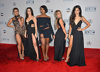 LOS ANGELES, CA. November 20, 2016: Pop group Fifth Harmony - Dinah Jane Hansen, Lauren Jauregui, Normani Hamilton, Ally Brooke &amp; Camila Cabello at the 2016 American Music Awards at the Microsoft Theatre, LA Live.<br /> Picture: Paul Smith/Featureflash/SilverHub 0208 004 5359/ 07711 972644 Editors@silverhubmedia.com