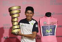 Nairo Quintana en rueda de prensa en Movistar,7-07-2014