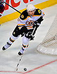 22 April 2009: Boston Bruins' center Phil Kessel leads off a rush during third period action against the Montreal Canadiens at the Bell Centre in Montreal, Quebec, Canada. The Bruins advance to the Eastern Semi-Finals, eliminating the Canadiens from Stanley Cup competition with their 4-1 win and series sweep. ***** Editorial Sales Only ***** Mandatory Credit: Ed Wolfstein Photo