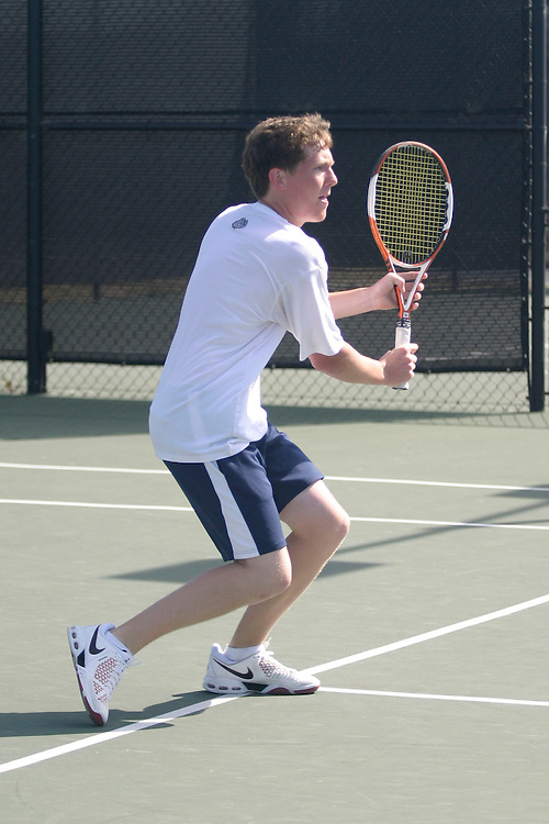 SAN DIEGO, CA - APRIL 19:  Scott Sullivan of the Gonzaga Bulldogs during day three of the West Coast Conference Tennis Championships on April 19, 2009 at the Barnes Tennis Center in San Diego, California.