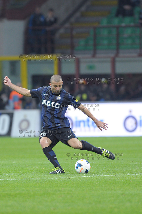 Walter Samuel (INter) during the Serie Amatch between Inter vs Bologna, on April 05, 2014. Photo: Adamo Di Loreto/BuenaVista*photo