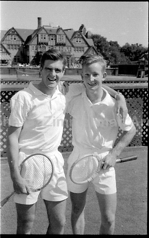 Australian Tennis Players Bob Mark (L) and Rod Laver at Forest Hills, 1956. Photograph by John G. Zimmerman