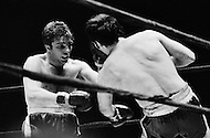 11 May 1970, Manhattan, New York City, New York State, USA. Donato Paduano (L) connects with a left during his fight against Marcel Cerdan Jr. at Madison Square Garden. Paduano defeated Cerdan Jr. Image by © JP Laffont