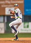 31 August 2016: Vermont Lake Monster pitcher Heath Bowers on the mound against the Tri-City ValleyCats at Centennial Field in Burlington, Vermont. The Lake Monsters defeated the ValleyCats 5-3 in NY Penn League action. Mandatory Credit: Ed Wolfstein Photo *** RAW (NEF) Image File Available ***