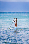 Olympic skier Julia Mancuso heading out to go stand-up paddleboarding with her father, Ciro, on the island of Maui, Hawaii