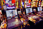 Sangokushi Taisen card game arcade slot machines in Tokyo, Japan
