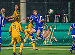 28 September 2013: Hartwick College Hawk Midfielder Marc Russell, a Sophomore from Glasgow, Scotland, in action against the University of Vermont Catamounts at Virtue Field in Burlington, Vermont. The Catamounts shut out the visiting Hawks 1-0. Mandatory Credit: Ed Wolfstein Photo *** RAW (NEF) Image File Available ***