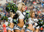 Seattle Seahawks'  dance team, Seattle Seagals perform before kickoff against the Dallas Cowboys at CenturyLink Field in Seattle, Washington on September 16, 2012. The Seahawks beat the Cowboys 27-7.     ©2012. Jim Bryant Photo. All Rights Reserved...