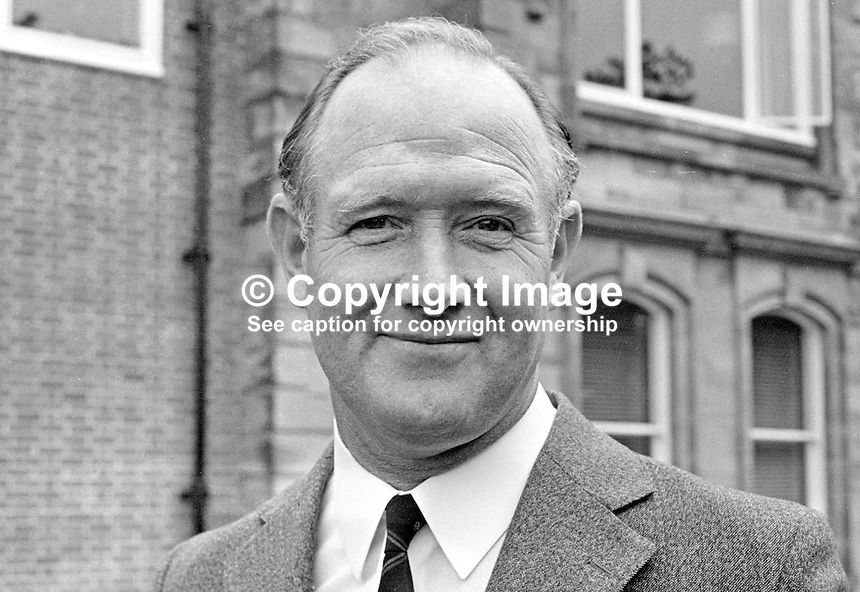 Harry Baillie, Assistant Chief Constable, RUC, N Ireland, 1973090586<br /> <br /> Copyright Image from Victor Patterson, 54 Dorchester Park, Belfast, UK, BT9 6RJ<br /> <br /> t1: +44 28 9066 1296 (from Rep of Ireland 048 9066 1296)<br /> t2: +44 28 9002 2446 (from Rep of Ireland 048 9002 2446)<br /> m: +44 7802 353836<br /> <br /> e1: victorpatterson@me.com<br /> e2: victorpatterson@gmail.com<br /> <br /> The use of my copyright images is subject to my Terms &amp; Conditions.<br /> <br /> It is IMPORTANT that you familiarise yourself with them. They are available on my website at www.victorpatterson.com.<br /> <br /> None of my copyright images may be used on a website or on television unless they are visibly watermarked, i.e. &copy; Victor Patterson within the body of the visible image. The metadata of images used on the Internet must not be removed.<br /> <br /> Copyright acknowledgment of my images is a condition of use.<br /> <br /> Failure to observe the above conditions will incur a penalty of at least 100% of the agreed fee. <br /> <br /> Web use (maximum size - 400 kb) is extra at currently recommended NUJ rates.